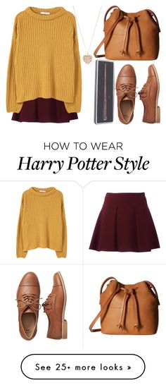 """Quidditch"" by depyhoran on Polyvore featuring MANGO, Gap, ECCO and Accessorize"