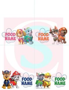 Check out this item in my Etsy shop https://www.etsy.com/listing/520383230/paw-patrol-custom-birthday-party-food