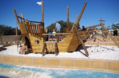 great park to try, A great park to try, A great park to try, source: ship playground Playground: Pirate Ship Playground for kids Captain Hook's Ship 002 Pirate Playground