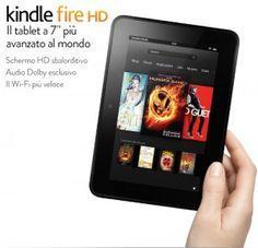 Arrivano in Italia i nuovi Kindle Fire HD e Kindle HD, i tablet firmato Amazon, con servizi eccezionali e hardware all'avanguardia. Saranno disponibili al prezzo di 199€ e 159€.