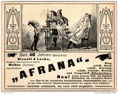 Original-Werbung/Inserat/ Anzeige 1909 - AFRANA NÄHMASCHINE - ca. 115 x 90 mm