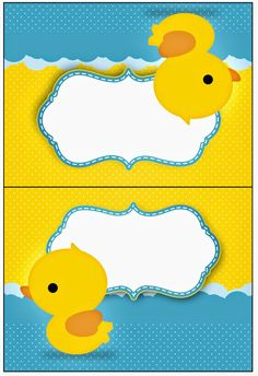 Rubber Ducky: Free Party Printables.