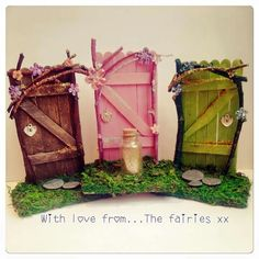 Popsicle stick Faerie Doors