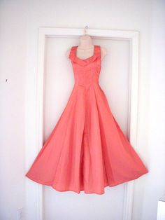 Vintage 40s Mauve Satin Cocktail Evening Dress 1940s Dusty Rose Prom Bridesmaid Dress Size X Small