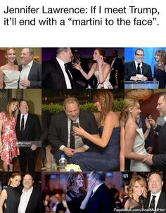 Jennifer Lawrence needs to be run over by a Mack truck. She's a nasty, stupid, uneducated whore Liberal Hypocrisy, Liberal Logic, Socialism, Political Quotes, Stupid People, Hollywood Celebrities, Jennifer Lawrence, Shit Happens, Funny