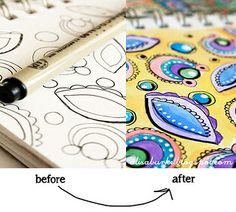 Great tips by Alisa Burke on her sketching supplies and process.  Beautiful sketches!
