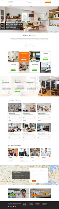 Chambers is a PSD template which is for selling, buying and rentinh houses, villa, luxury resorts, lands and apartments. It is a highly suitable template for real estate and renting companies. It has purpose oriented design, responsive layout and special features like search bars and forms, services, property views, galleries, blog and other pages.