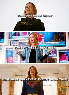 """""""...be not afraid of greatness"""" #Supergirl"""