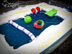 Swim class treat - jello pool