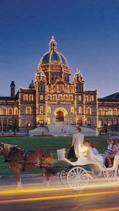 Victoria, Vancouver Island, Canada,  I'd like to see that palace with that ride, so romantic!