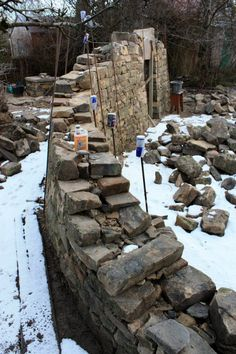 anatomy of a natural stone retaining wall