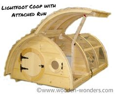 Bring the Lightfoot Hobbit Hole Chicken Coop with Attached Run home to roost! On the attached run version nest boxes are located directly inside the front door (the chicken door is in the back) and clean out access is through the hinged roof! Chicken Coop Kit, Cheap Chicken Coops, Portable Chicken Coop, Best Chicken Coop, Building A Chicken Coop, Chicken Feed, Camping Am Meer, Duck House, Wooden Playhouse