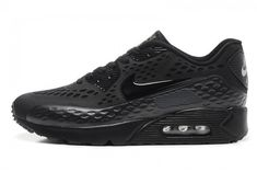 brand new 9f2e4 b29f5 Vendita Superiore Scarpa Air Max 90 Ultra Donna All Nero Carved Three  Dimensional Breathable Couples