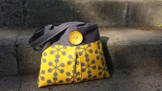 Handbag Purse Tote in Yellow and Grey from DandelionHoney for $50.00