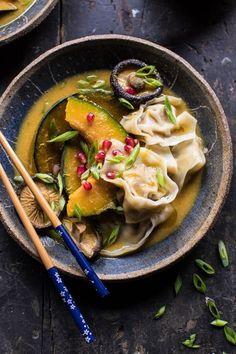 Miso Dumpling Soup with Autumn Squash