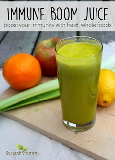This immune boom juice gives you an extra nutrient-rich kick using whole, fresh, healthy foods. Simple to make, and deliciously refreshing, it's great for when you need an immune boost or if you're just craving a fresh juice.