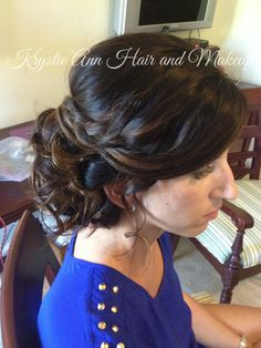 Hair: www.krystieann.com  Wedding hair, bridal hair, wedding updo, updo, wedding hairstyles, side bun, braided updo, beach wedding hair, punta cana wedding, melia caribe tropical, krystie ann hair and makeup, bridesmaid hair