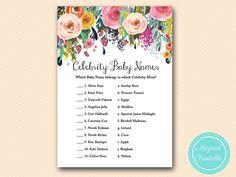 celebrity baby names celebrity moms Floral by MagicalPrintable