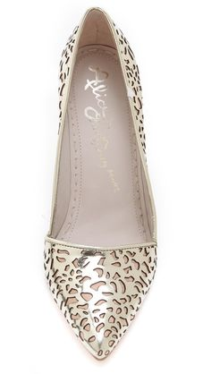 Laser cut mirrored shoes - Wow!