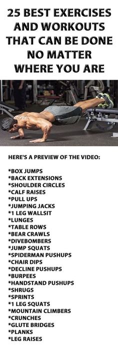 25 Exercises And Workouts That Can Be Done No Matter Where You Are. men's fitness, fitness inspiration