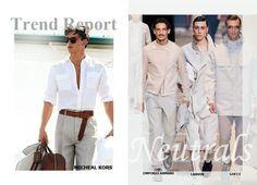 Fashion Men Spring 2014 #spring #2014 #men #fashion #dmafashion #neutrals #michaelkors #emporioarmani #lanvin #gucci