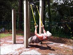 Trendy home gym trx diy ideas Diy Gym Equipment, Outdoor Fitness Equipment, No Equipment Workout, Outdoor Gym, Outdoor Workouts, At Home Workouts, Cardio Workouts, Suspension Workout, Suspension Trainer