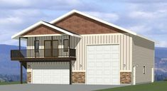 40x40 Apartment -- #40X40H1D Garage With Living Quarters, Garage To Living Space, Garage Floor Plans, Small House Floor Plans, Garage Apartments, House Siding, Shed Homes, Tiny House Design