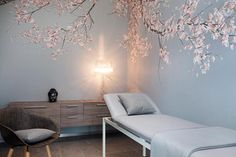Bildtapeten Praxis Neumannn - Another! Spa Treatment Room, Wall Treatments, Spa Room Decor, Home Decor, Massage Therapy Rooms, Spa Interior Design, Paint Your House, Spa Rooms, Clinic Design