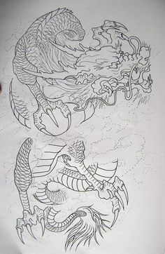 5 from my book.Dragon 5 from my book. Japanese Dragon Tattoos, Japanese Tattoo Art, Japanese Tattoo Designs, Asian Dragon Tattoo, Dragon Tattoo Drawing, Tattoo Drawings, Tattoo Sketches, Tattoo Geometrique, Dragon Phoenix