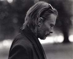 """The February issue of Huge Magazine features Radiohead frontman Thom Yorke in this Undercover editorial entitled """"Walkin' in Hyde Park"""". Great Bands, Cool Bands, Colin Greenwood, Atoms For Peace, Thom Yorke Radiohead, Look At The Stars, Music People, Hyde Park, Black And White"""