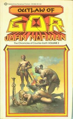 BORIS VALLEJO - Outlaw of Gor (Chronicles of Counter-Earth #2) by John Norman - 1976 Ballantine Books