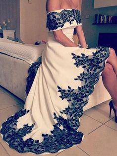 High Low Prom Dresses A-line Off-the-shoulder Scoop Sexy Prom Dress Long Evening Dress JKL724