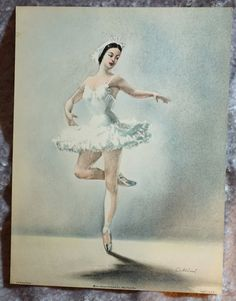"Releve Passe,  Vintage Ballerina, Original Color Lithograph, ""  1953 Art Lithograph, by Cellini,  Made in the USA by FunFloridaVintage on Etsy"