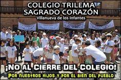 Domingo, 11 de Junio de 2017 - Manifestación en contra del cierre del Colegio Sagrado Corazón de Villanueva de los Infantes