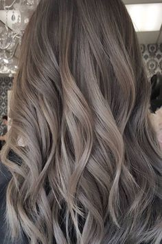 Long Wavy Ash-Brown Balayage - 20 Light Brown Hair Color Ideas for Your New Look - The Trending Hairstyle Ash Brown Hair Color, Light Brown Hair, Cool Tone Brown Hair, Ash Hair Colors, Ash Brown Ombre, Ash Tone Hair, Dyed Hair Brown, Hair Color For Tan Skin, Brown Hair Tones