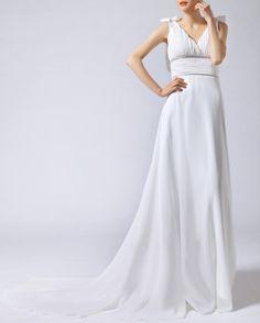 1930 vintage wedding dress greek wedding dress bridal gown 30s inspired. $88.00, via Etsy.