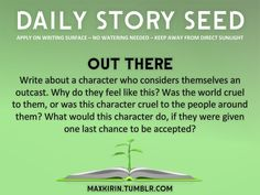 "⚘ DAILY STORY SEED ⚘ "" Afterlife Factory Write about a character who happens to be a divine creature… except they've turned against their master. This character is going to sabotage the divine. Creative Writing Prompts, Writing Advice, Writing Help, Writing A Book, Writing Ideas, Writing Corner, Writing Resources, Writing Fantasy, Writing Skills"