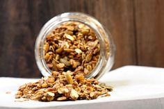 Apple Spice Granola (made with applesauce!) on Savvy Eats