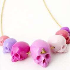SEEKING Vivienne Westwood skull bead necklace Desperately seeking a Vivienne Westwood skull bead necklace, would prefer pink color but will buy any at this point, I have been looking for  year online now and can't find anything... Please tag if you are aware of one listed here!  Vivienne Westwood Jewelry Necklaces