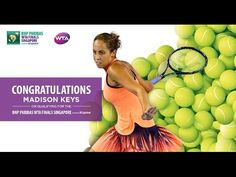 10/1/16 Madison Keys Qualifies For Her First WTA Finals  ...  October 16, 2016:   Madison Keys is set to make her debut at the BNP Paribas WTA Finals Singapore presented by SC Global. Via Ady Mac: Madison Keys is the first American other than Serena and Venus Williams to earn a berth at the year-end WTA Finals in more than a decade. The last American besides one of the Williams sisters at the finals was Lindsay Davenport, a former coach to Keys, in 2005.