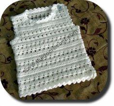 Chaleco para bebe tejido a crochet