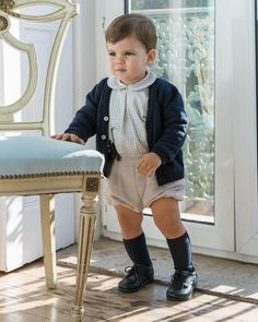 Boys Clothes Style, Baby Kids Clothes, Vintage Baby Clothes, Toddler Outfits, Baby Boy Outfits, Kids Outfits, Baby Boy Fashion, Kids Fashion, Spanish Baby Clothes