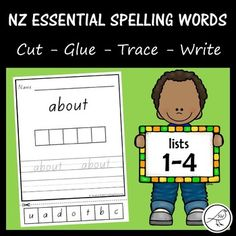 Activity sheets for lists of the NZCER Essential Words. A great way to reinforce spelling and handwriting at the same time! 110 activity sheets in total. size (two of the same activity sheet on each size page). Spelling And Handwriting, Spelling Lists, Spelling Words, Sight Words, Activity Sheets, Activity Centers, Literacy Centers, Classroom Environment, A4 Size
