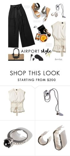 """""""Jet Set: Airport Style"""" by eyesondesign ❤ liked on Polyvore featuring Zimmermann, Anna Sheffield, airportstyle and eyesondesignfashion"""
