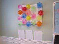 Summer Reading Chart : prizes tucked inside each balloon, finish a book- pop a balloon! Love it!