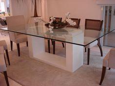mesas de jantar branca com vidro - Pesquisa Google