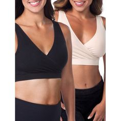 8a11d5851f Loving Moments by Leading Lady - Loving Moments by Leading Lady Seamless  Crossover Sleep Nursing Bra 2 pack combo - Walmart.com