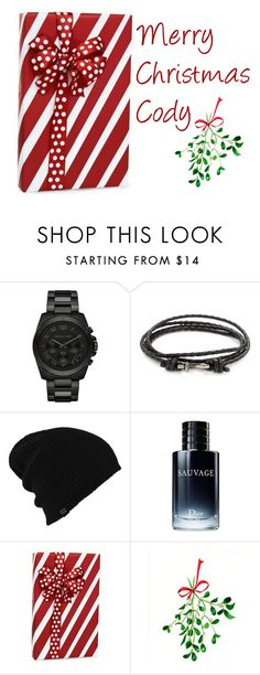 """""""Merry Christmas Cody- Cara"""" by loveemestill ❤ liked on Polyvore featuring Michael Kors, Mateo, Burton, Christian Dior, WALL, men's fashion and menswear"""