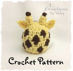 CROCHET PATTERN to make a Giraffe EOS Lip Balm Holder, Pdf Format, Instant Download.  Digital file, not a finished item. by HeartspunByWendy on Etsy