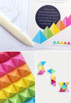 DIY pop-up alphabet paper craft